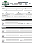 Employment Application - Knecht's Nurseries and Landscaping